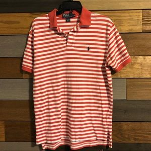 Polo by Ralph Lauren Red and White Striped Polo
